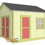 Shed plans 10x12 gable shed - download.