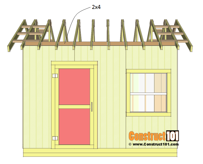 Shed plans 10x12 gable shed - 2x4 blocks.