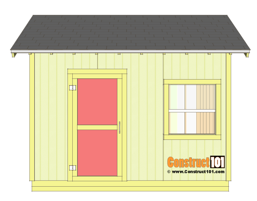 Shed plans 10x12 gable shed - shingles and trim.