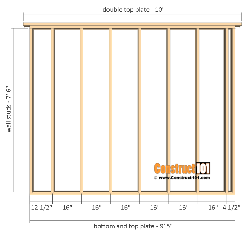 Shed plans 10x12 gable shed - side walls.