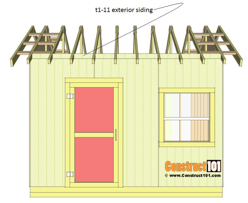 Shed plans 10x12 gable shed - siding block.