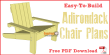 Simple Adirondack chair plans -free PDF download.