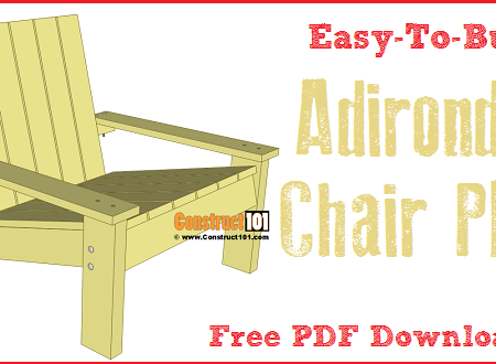 Simple Adirondack chair plans -free PDF download.