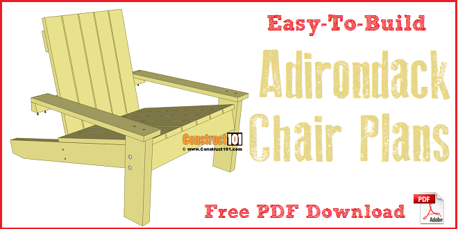 Simple Adirondack chair plans -free PDF download.  sc 1 st  Construct101 : step chair plans - Cheerinfomania.Com