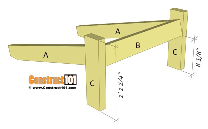 Simple Adirondack chair plans - step 3.