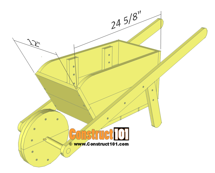 Wheelbarrow planter plans - details.