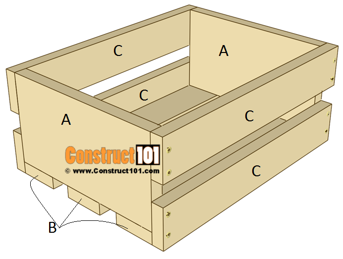 3 Tier Display Crate Plans - Step 1