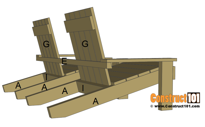 Jack and Jill seat plans, install back.