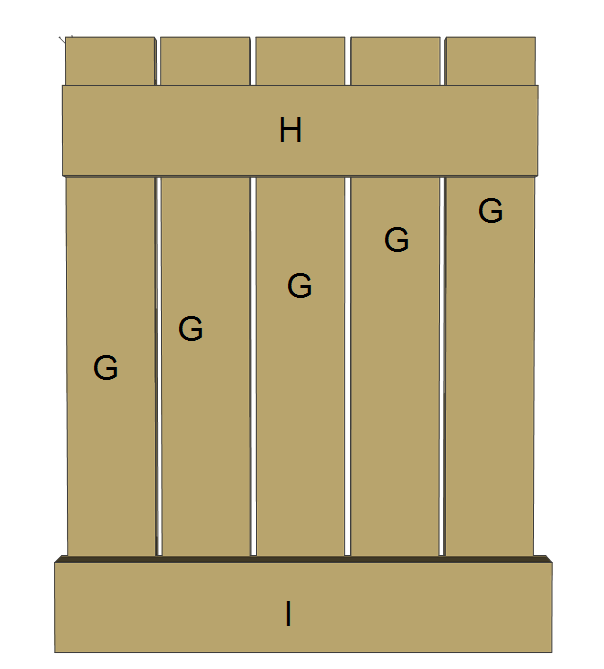 Jack and Jill seat plans, g, h, i.