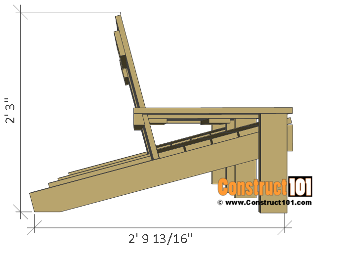 Jack and Jill seat plans, side view.