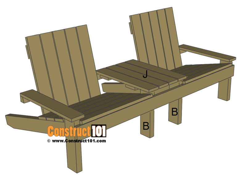 Jack and Jill seat plans, install table.