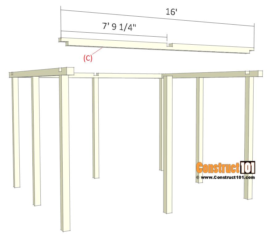 Pavilion plans 14x16 - step 3