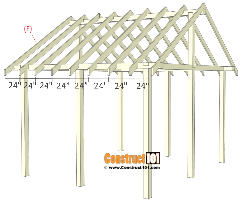 Pavilion plans 14x16 - step 5