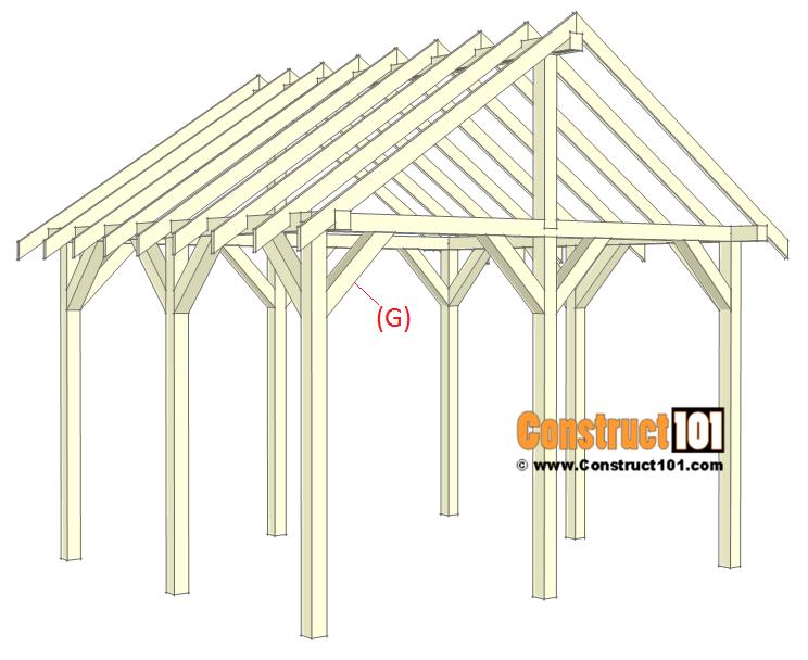 Pavilion plans 14x16 - step 6