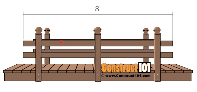 Flat deck garden bridge plans - step 4