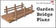 Flat deck garden bridge plans free PDF download.