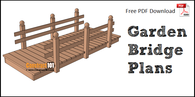 Flat Garden Bridge Plans PDF Download Construct101 – Garden Bridge Plans Pdf