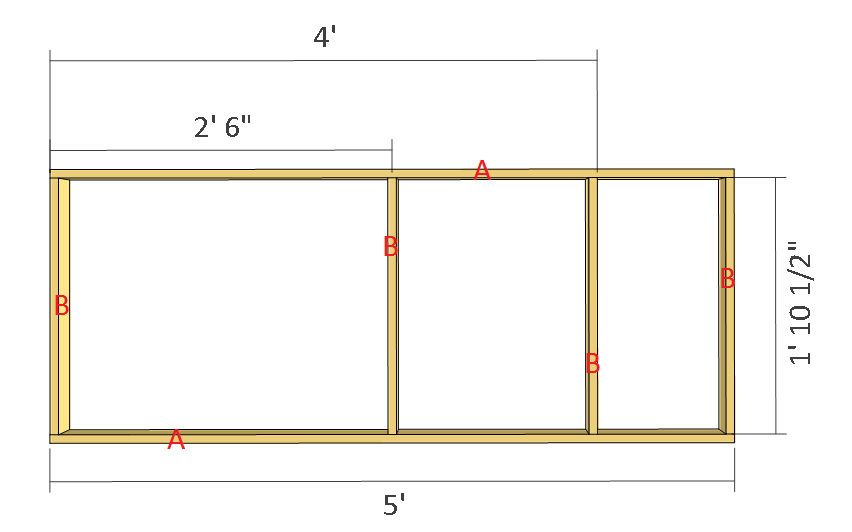 Simple potting bench plans step 1
