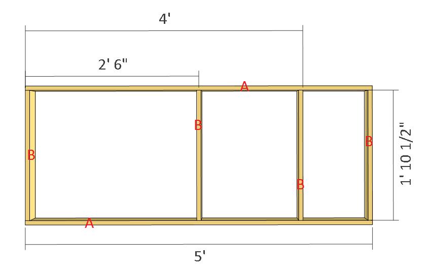 Simple potting bench plans step 1