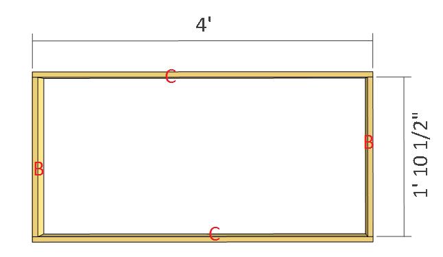 Simple potting bench plans step 2