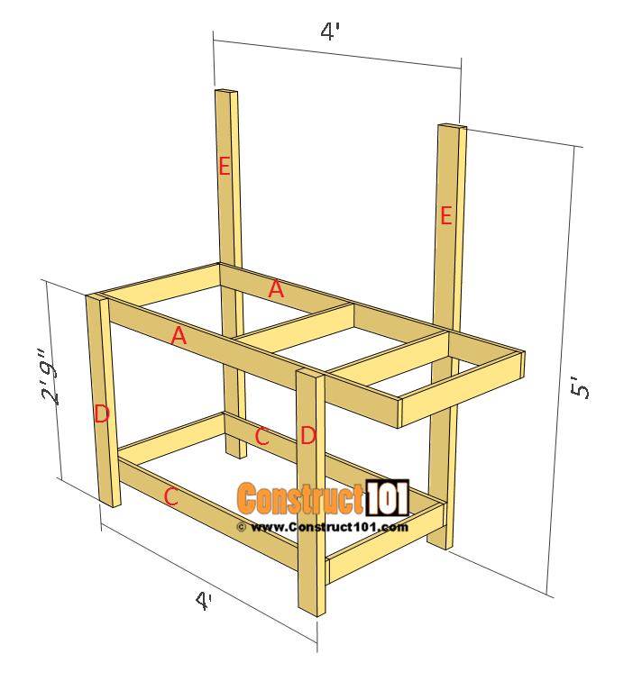 Simple potting bench plans step 3
