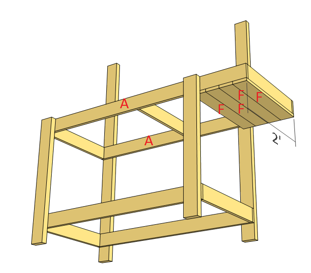 Simple potting bench plans step 4