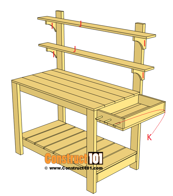 Simple potting bench plans step 7
