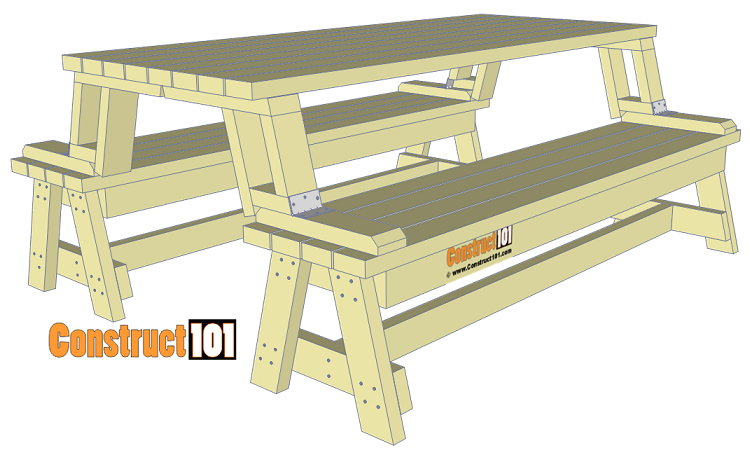 Folding picnic table plans.