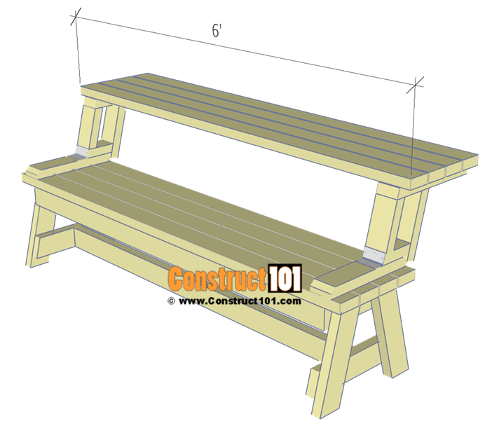 Superb Folding Picnic Table Plans Easy To Build Projects Evergreenethics Interior Chair Design Evergreenethicsorg