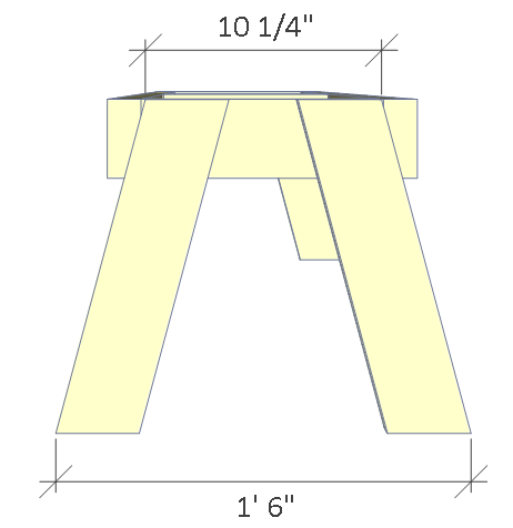 Folding picnic table plans, step 3.