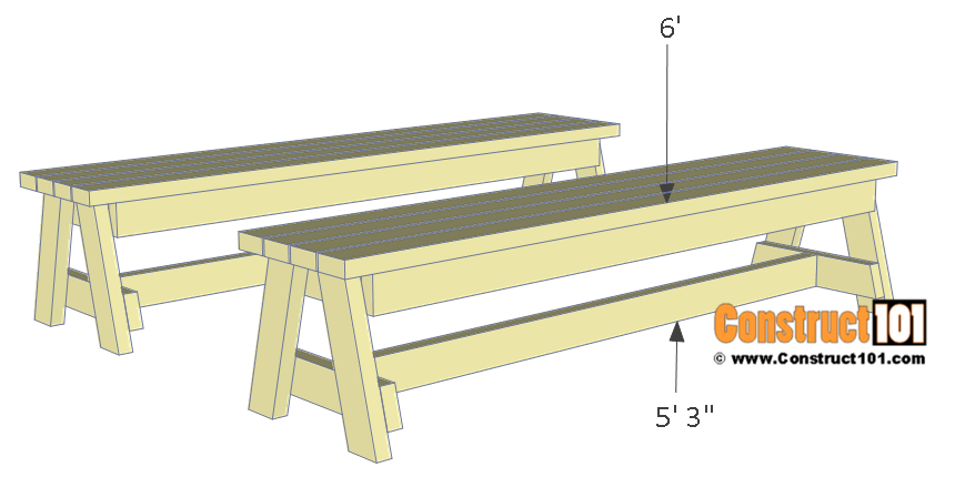 Folding picnic table plans, step 5.