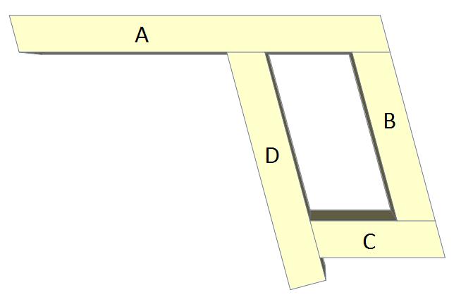 Folding picnic table plans, step 9.