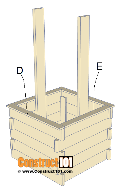 Wishing well plans, step 4.