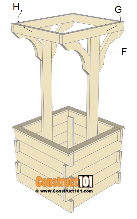 Wishing well plans, step 6.