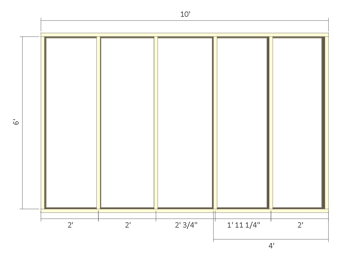 8x10 chicken coop plans - back wall frame 1.
