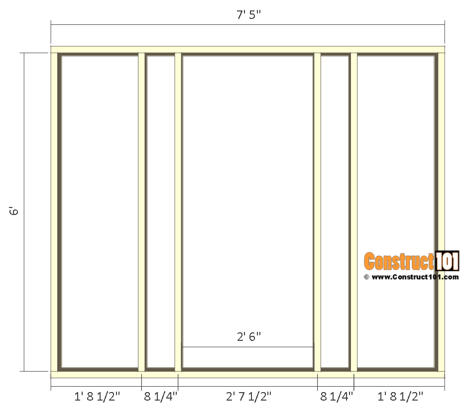 8x10 chicken coop plans - right wall frame.