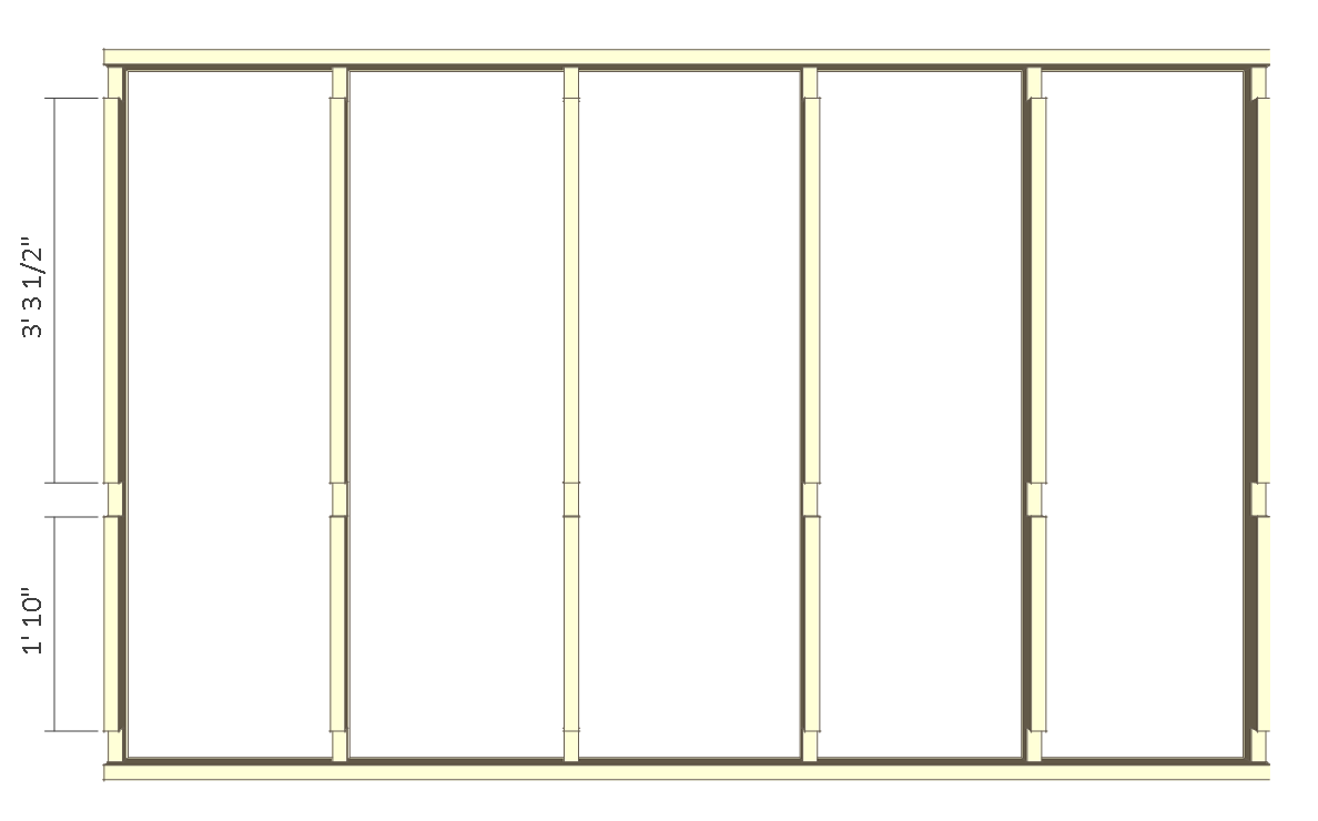 8x10 chicken coop plans - back wall frame 2.
