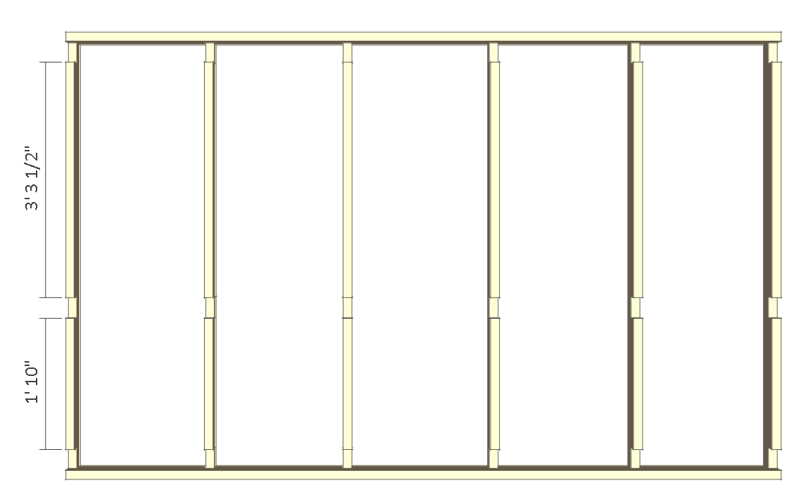 8x10 chicken coop plans - front wall frame 2.