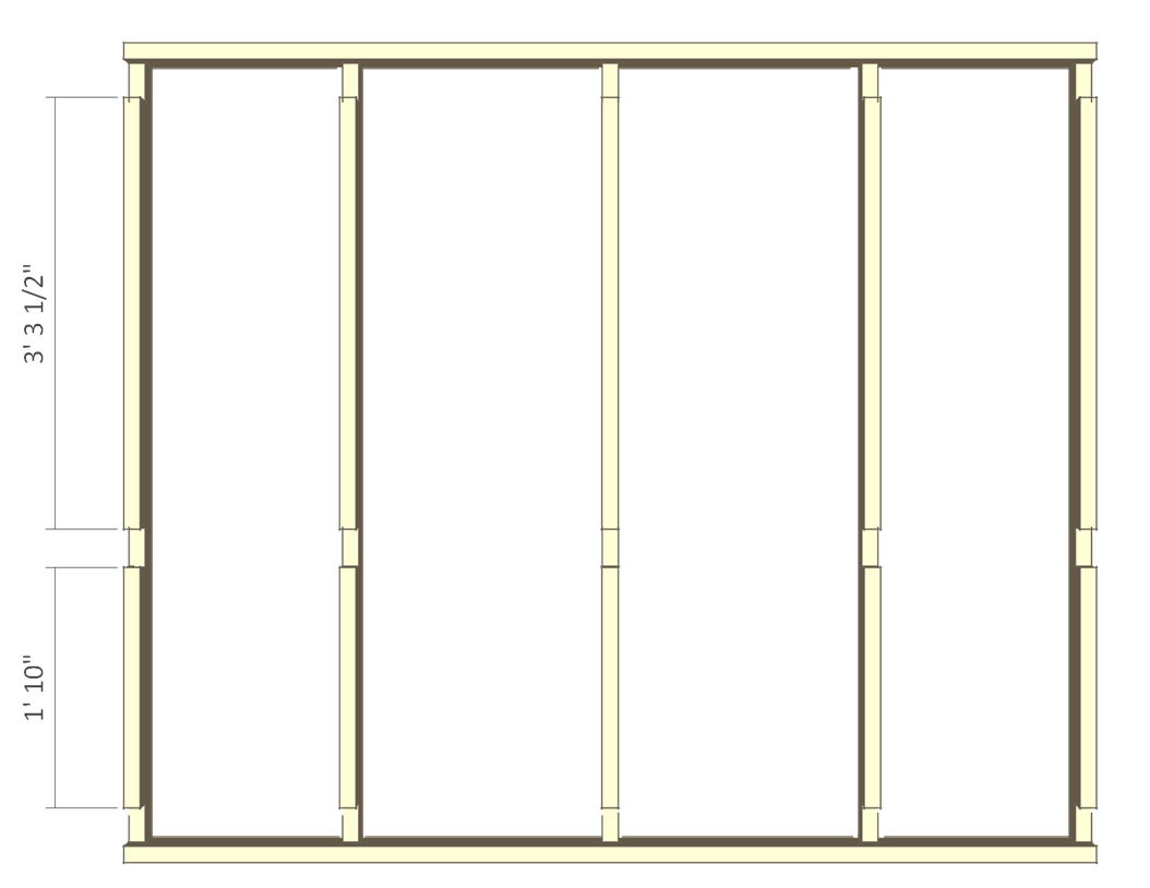 8x10 chicken coop plans - left wall frame 2.