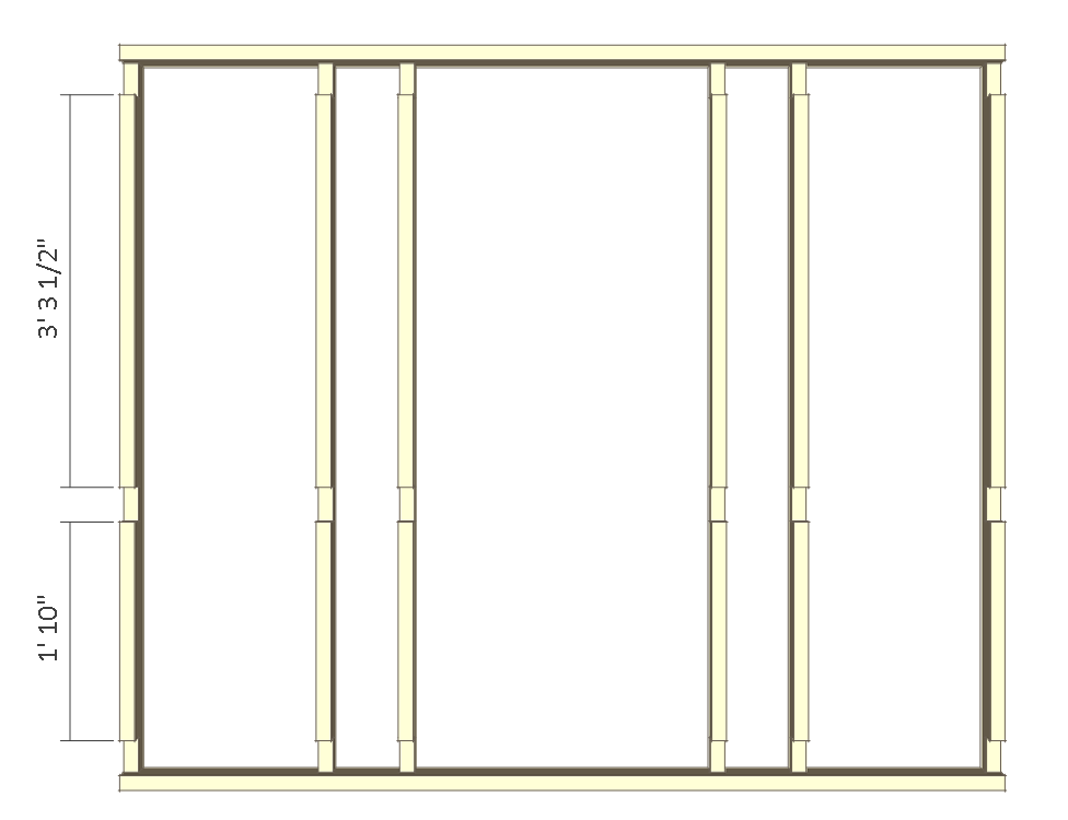 8x10 chicken coop plans - right wall frame 2.
