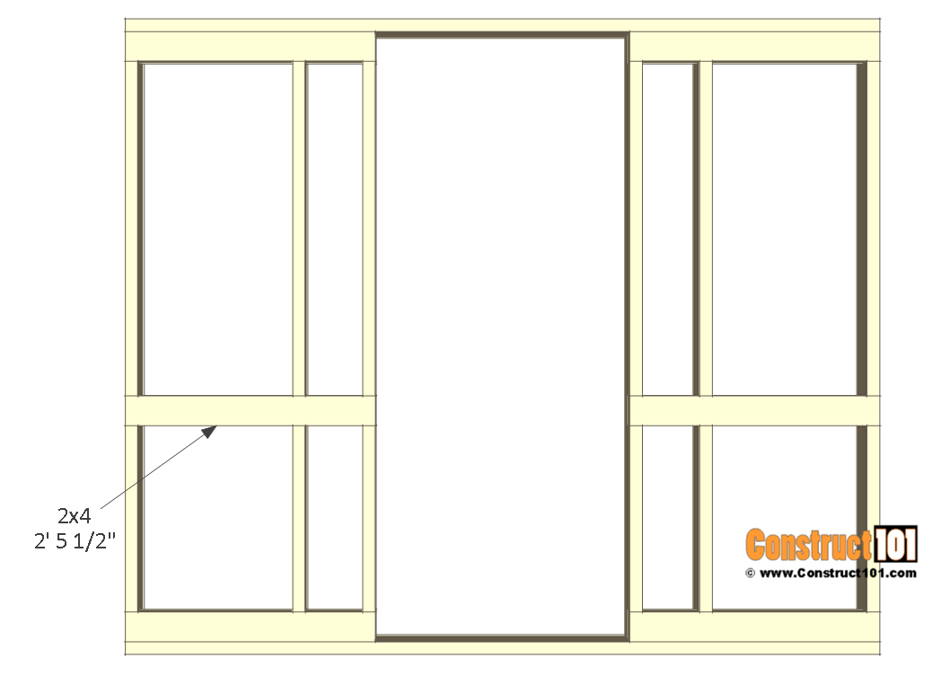 8x10 chicken coop plans - right wall frame 3.