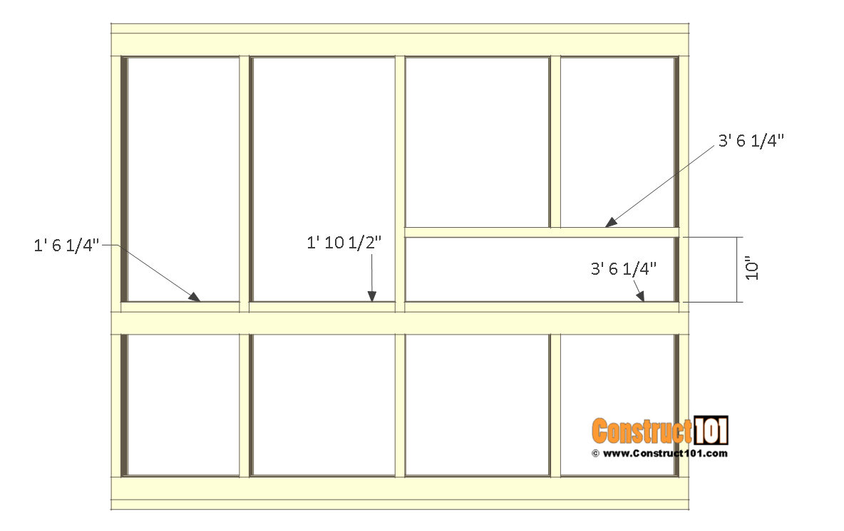 8x10 chicken coop plans - left wall frame 4.