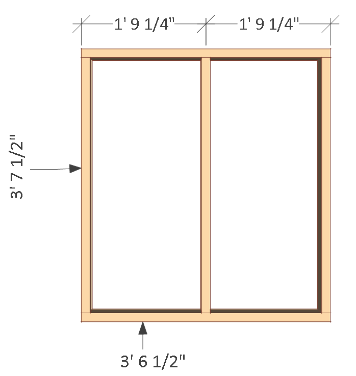 4x8 chicken coop plans, back wall frame.