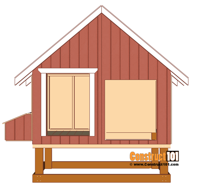 4x8 chicken coop plans, measure, cut, and install door trim.