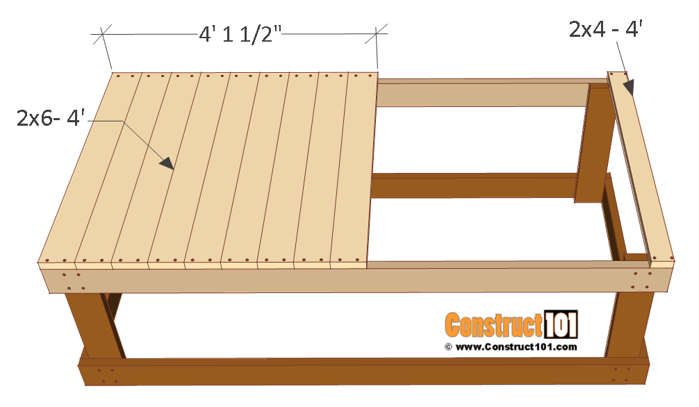4x8 chicken coop plans, floor deck.