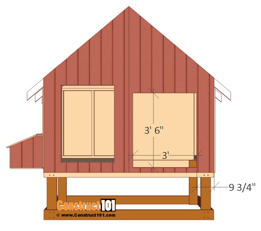 4x8 chicken coop plans, cut and install back siding.