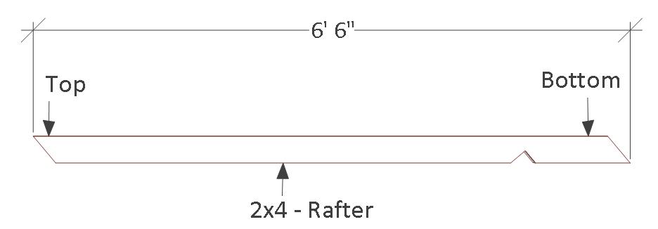 4x8 chicken coop plans, rafter.