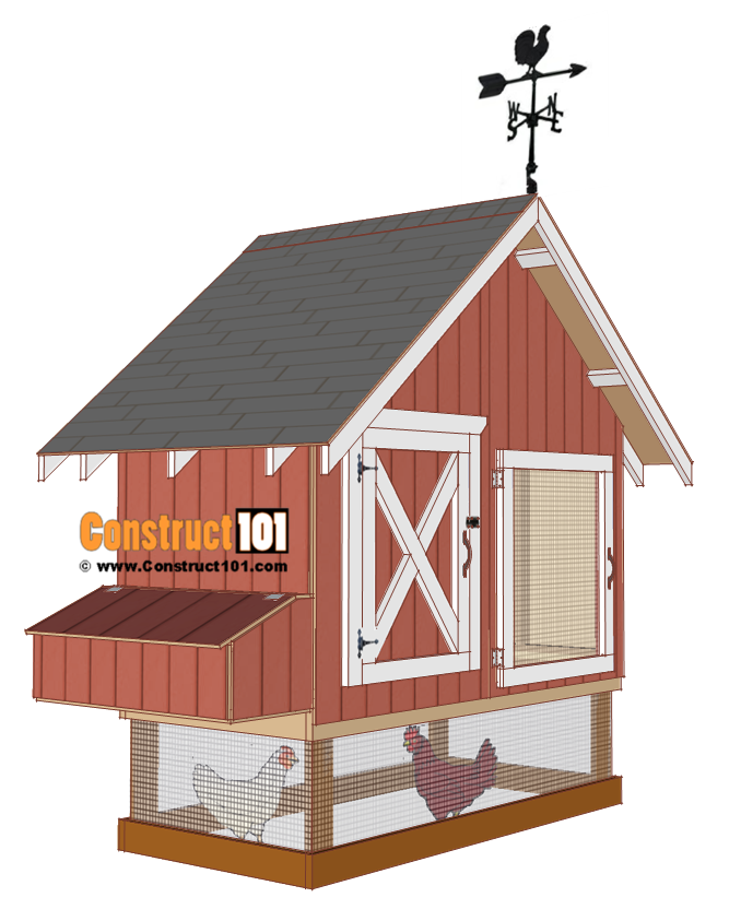 4x8 chicken coop plans, install roof shingles.