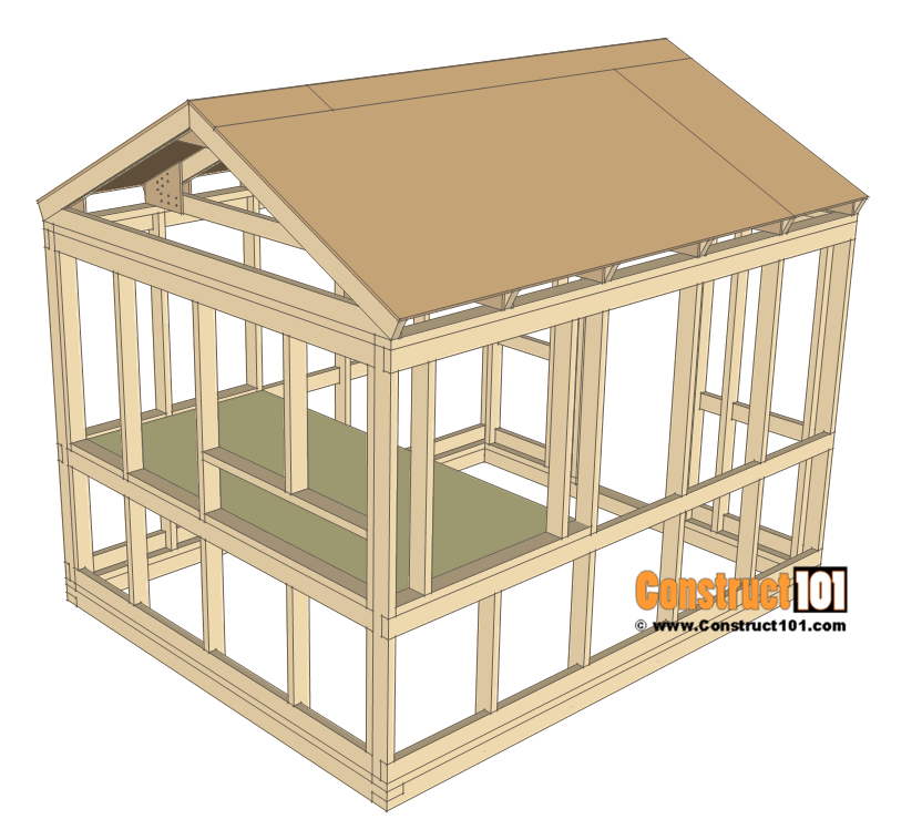 8x10 chicken coop plans - floor deck.