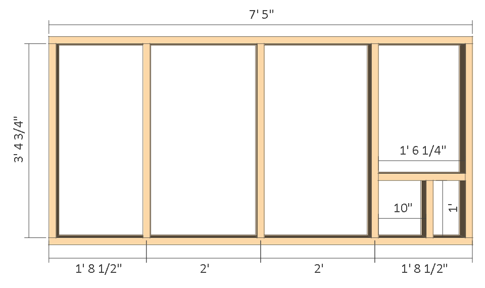 8x10 chicken coop plans - inside wall frame.